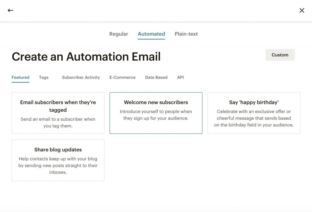 Create an Automation Email Page Screenshot in Mailchimp | Whitney Bateson Digital Strategy