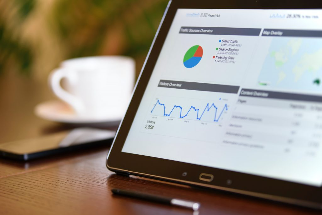 Google Analytics dashboard on a tablet | Website Launch Checklist